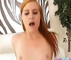 Horny Amateur Redhead Babe Is Going Wild on Hot Cock