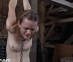 Freezing whipping for enjoyable girl