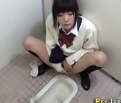 Asian teen masturbates
