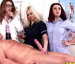 CFNM nurses share cock with MILF doctor