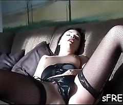 Passionate muff teasing