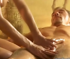 Beautiful Erotic Golden Massage