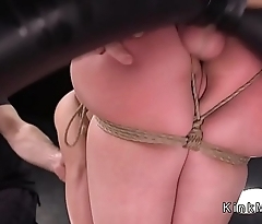 Big booty slave anal fucked in dungeon