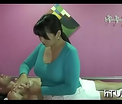 Masseuse playgirl rides large dick