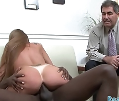Mature slut rides bbc in the lead of her whisper suppress