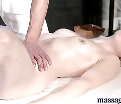 Massage Rooms Elegant pale skinned Mom squirts be expeditious for hammer away very first time
