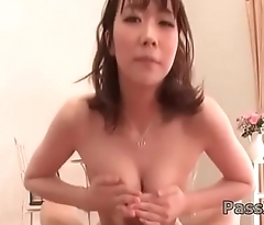Hitomi Oki provides pleasure on a chunky dick