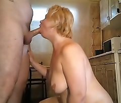 Chubby wife taking facial on webcam